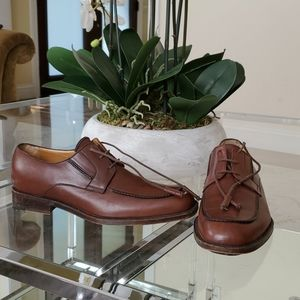 MEN'S A. TESTONI BROWN LEATHER SHOES ITALY